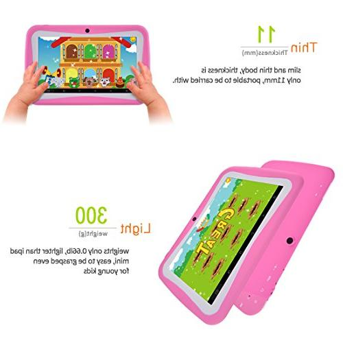BENEVE 7 Inch Tablet with RAM 8GB ROM Kids Software