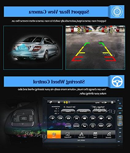 EinCar MP5 Inch Capacitive Touch Car Stereo in Dash Double Car Support AUX + Remote Control