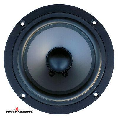 PAIR 6 7 inch 8Ohm High End Woofer Frame &