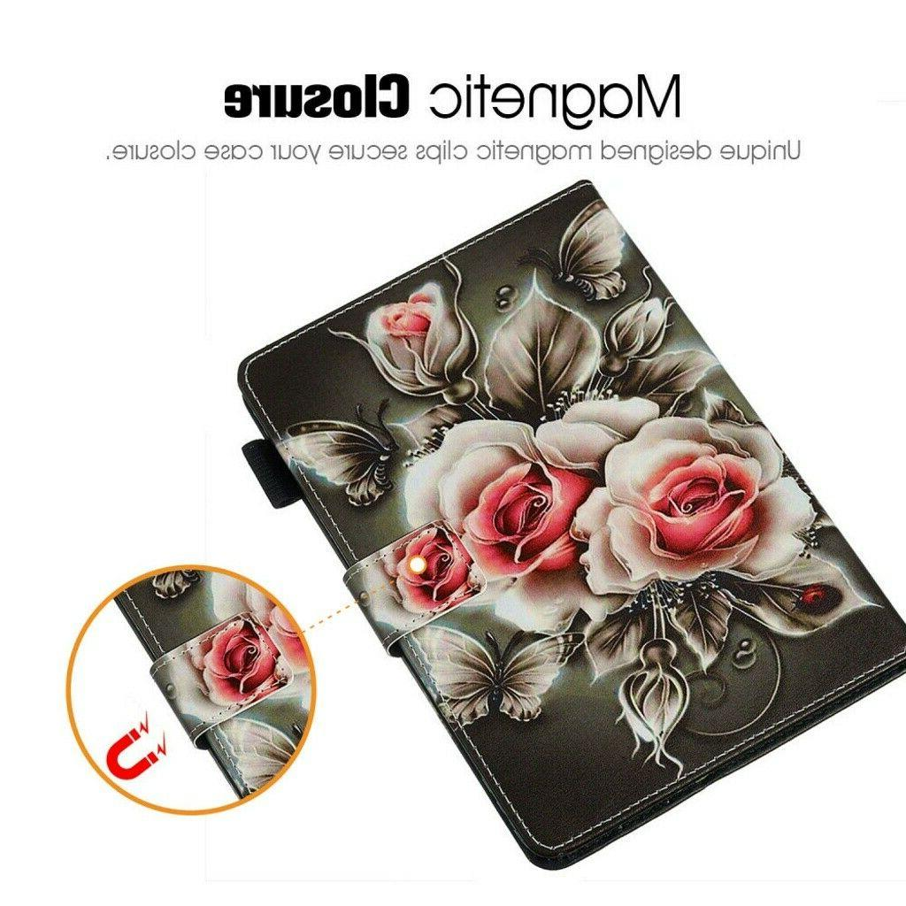 Pattern Magnetic Wallet Case For Amazon Fire 7Inch 2019/2017/2015