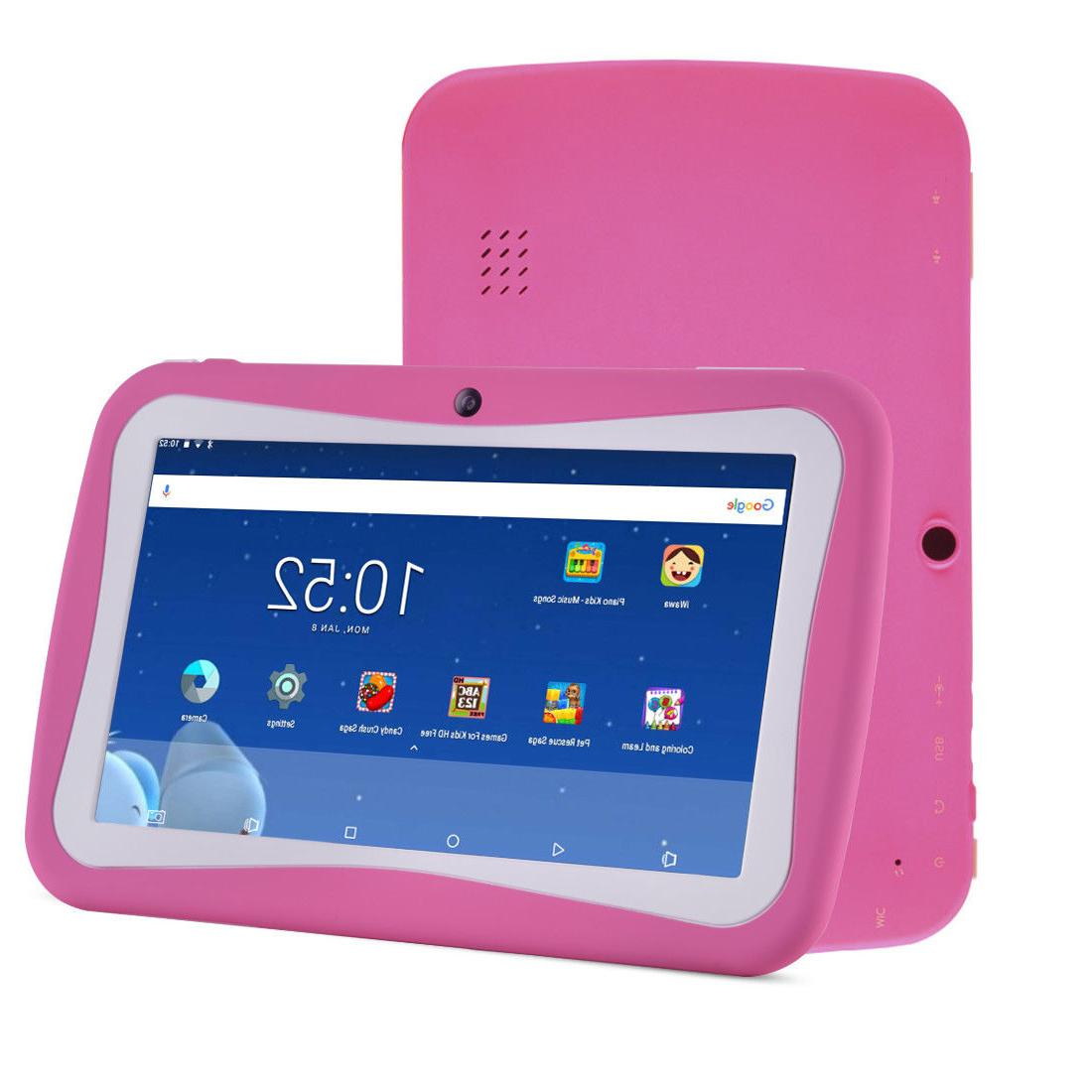 Quad Core 7Inch 8GB Kids Tablet PC Android4.4 Dual Camera HD