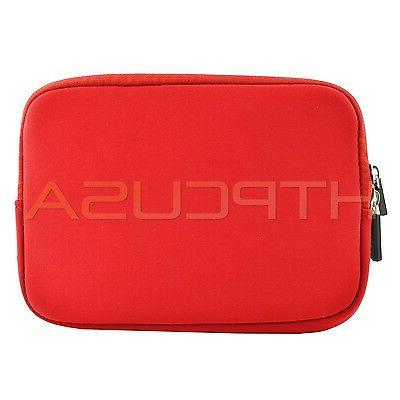 "Red/Green 7""-8"" Inch Color Sleeve Gift Universal Tablet Case"