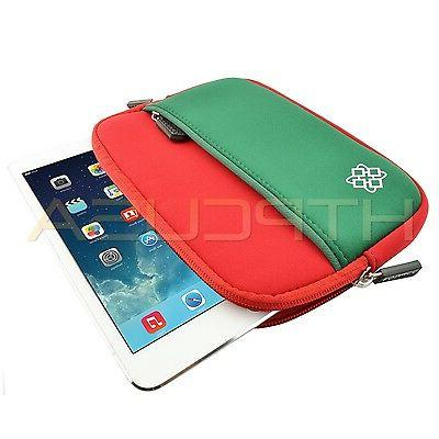 "Red/Green 7""-8"" Christmas Color Gift Tablet Case"