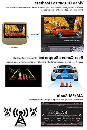 7In Single-DIN Android 2GB RAM Navigation Front Panel Web App Download, CD/DVD Player Camera