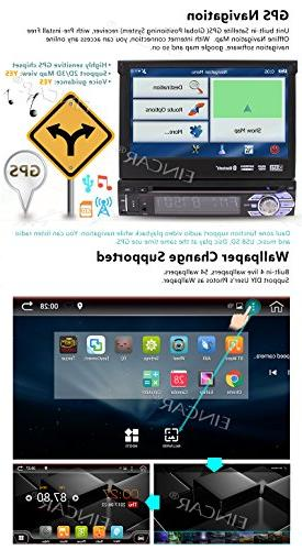 7In Car Stereo With 2GB RAM Bluetooth GPS Navigation Front Web Browsing, CD/DVD Player Camera