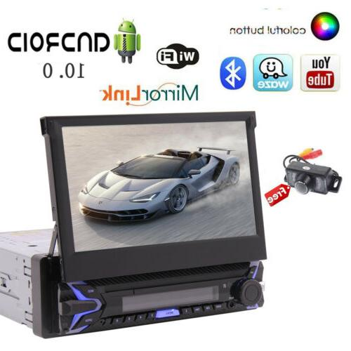 EinCar Single Stereo 7 Flip Out GPS with Free