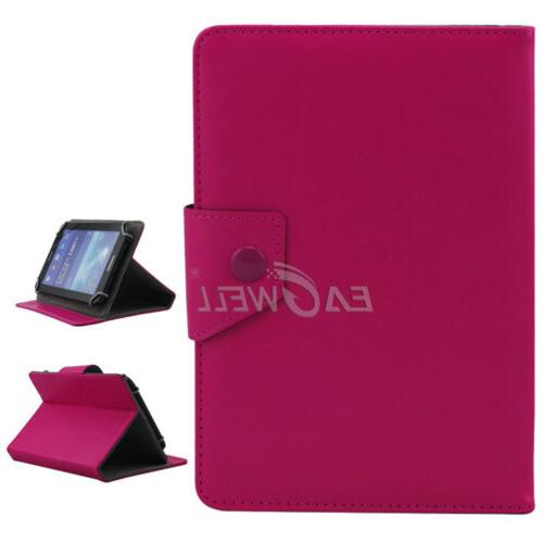 """US For 7"""" 8"""" 10.1"""" Tablets PC Universal Folded Leather Case"""
