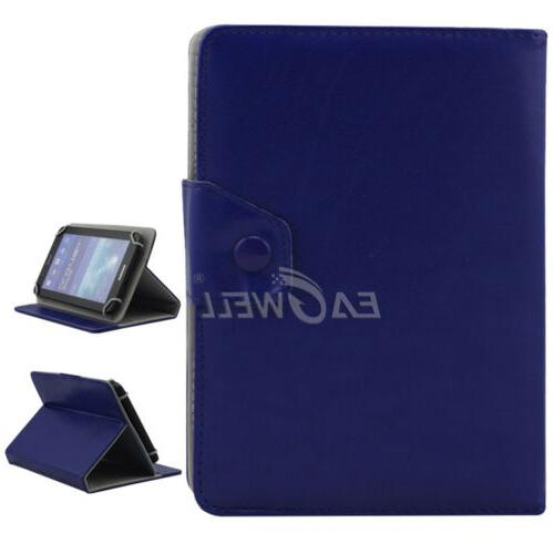"""US For 7"""" 8"""" 10.1"""" Tablets Universal Folded Leather Case Sta"""