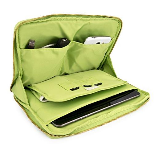 7-8.5 Tablet Sleeve Water Vegan Leather Case with for iPad Fire 7/HD Galaxy S3/7 More