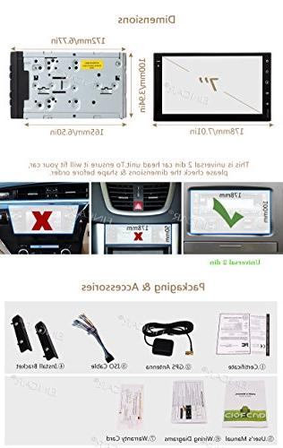 EinCar Inch Touch Din Android 7.1 Stereo GPS Car Entertainment Multimedia Radio WiFi & Free & Camera