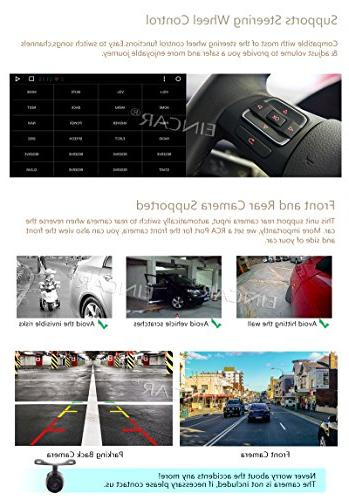 EinCar 7 Inch HD Touch Double Android GPS Octa Radio WiFi Bluetooth Free Camera