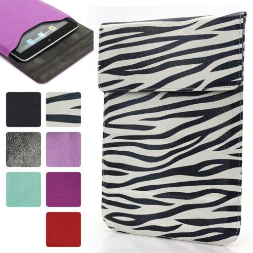 Universal 6 - 7 inch Tablet Slim PU Leather Sleeve Pouch Cas