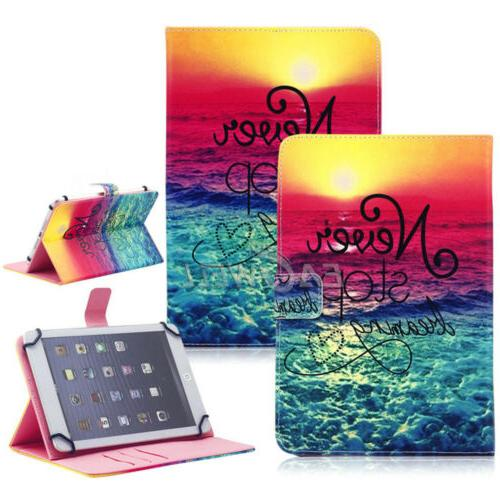 """Leather Cover Case For 7"""" Android Tablet RCA 7 Inch / iRulu"""