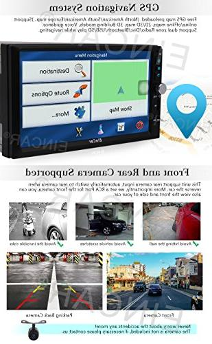Upgrade EinCar 7'' Android 6.0 Core Car Receiver Din Entertainment System Support AM/FM/RDS/Bluetooth/Mirrorlink with External