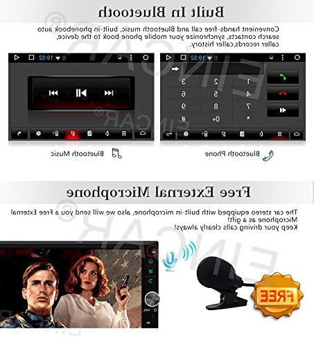 Upgrade EinCar Car 7'' Android Car GPS Receiver Double Entertainment System Support