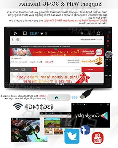 Upgrade Car 7'' HD Touch Screen Android 6.0 Quad Core Car Navigaton Receiver Double Din Car Entertainment Support with