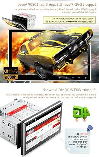 """10.1"""" Upgraded Android Quad Double Car DVD/CD Player Dash Navigation with Radio Support Bluetooth Subwoofer+Free"""