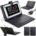 """US! Folio Stand Keyboard Leather Case Cover For 7''/8""""/10"""" A"""