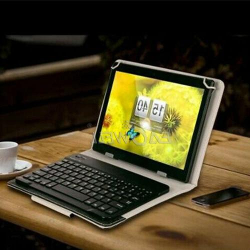 """10"""" inch Tablet PC Leather Keyboard Cover"""