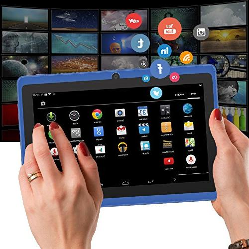 Yuntab 8GB Y88 inch Google Android 4.4 Tablet HD Resolution with Dual Camera Play Pre-loaded Skype, Supported