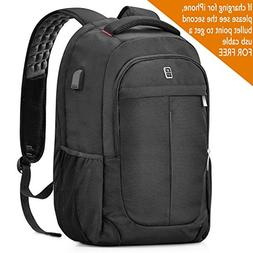 Sosoon Laptop Backpack, 17.3 Inch Laptop Backpack with USB C