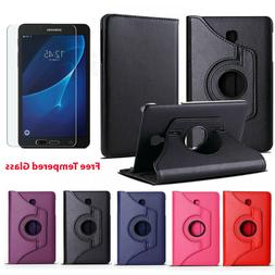 Leather Case Cover Samsung Galaxy Tab A 7 inch Tablet + Glas