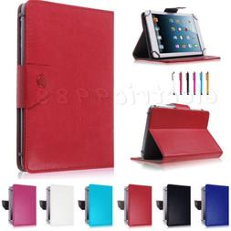 """Leather Tablet Case For PendoPad 7"""" 8""""10.1"""" Inch Dual Core /"""
