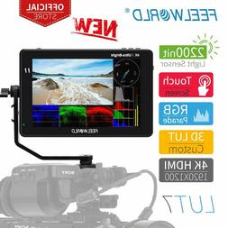 FEELWORLD LUT7 7 Inch 2200nits Camera Field Monitor 3D LUT T