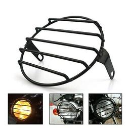 Motorcycle Headlight Cover 7Inch Retro Old School Metal Moto