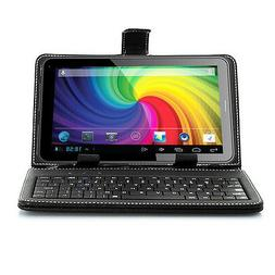 NEW 7-inch Universal Black USB 2.0 QWERT Keyboard Case Stand