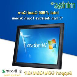 Minisys OEM ODM All-in-one Panel PC Intel J1900 Quad Core 17