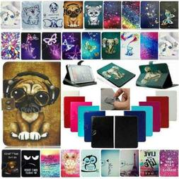 """For Onn 7"""" 8"""" 10.1"""" Android Tablets Universal Stand PU Leath"""