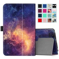 For Onn 7 inch Tablet Slim Case Vegan Leather Folio Stand Co
