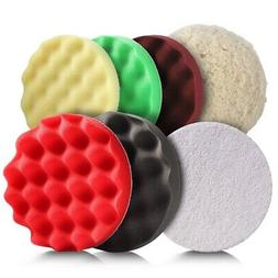 Polishing Pads,7 Pcs 7 InchBuffing and Polishing Pads Kit,Pe