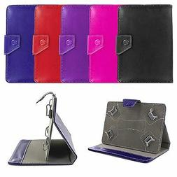Universal 7-Inch Leather PU Folding Case Cover Skin w/ Stand