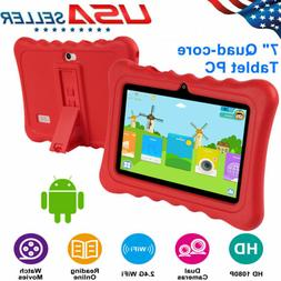 "Quad Core 7"" Inch Android 4.4 Tablet Dual Camera 8GB WIFI Bu"