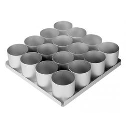 Alan Silverwood 16 Piece 2 in Round Cake Pan Set