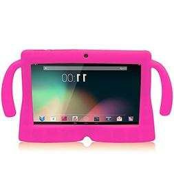 WOVTE 7 Inch Silicone Rubber Gel Soft Skin Case Cover with H
