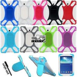 Silicone Stand Cover Case For Samsung Galaxy Tab 1/2/3/4 Not