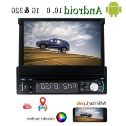 Single 1 Din Car Stereo Android 6.0 7 inch Touchscreen DVD R