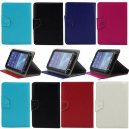 """Slim PU Leather Tablet Folio Stand Case Cover For Various 7"""""""
