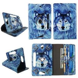 """Android Tablet Case 7 inch Universal 7"""" Folio pu Leather 360"""