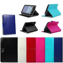 """Universal Adjustable Leather Stand Cover Case For 7"""" 7 Inch"""