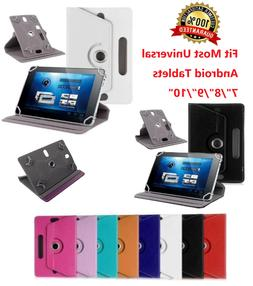 "For Universal Android Tablets 7"" 8"" 9"" 10"" 10.1"" Folio Leath"