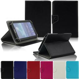 "Slim Folio Stand Leather Case Cover For Various 7"" Inch Andr"