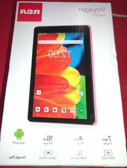 "RCA Voyager 7"" Inch 16GB Tablet Android 6.0 OS, Pink"