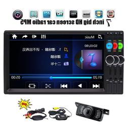 Wireless Backup Camera+7'' Double Din in Dash HD <font><b>Ca