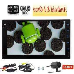 Wireless Rear Camera+Android 8.1 Quad Core Double 2 Din Car
